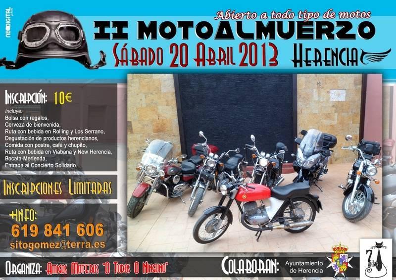 Cartel II motoalmuerzo de Herencia