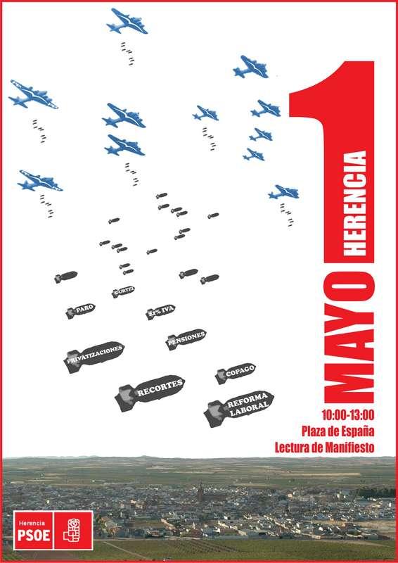Herencia_Cartel actos 1º de mayo Psoe