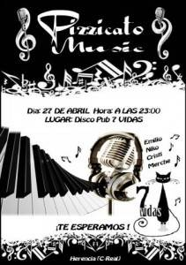 Concierto Pizzicato Music en Herencia 211x300 - Pizzicato Music dará un concierto en disco-pub 7vidas