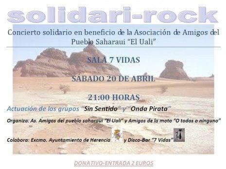 Herencia Concierto Solidario en ayuda a la asociación de Amigos del Pueblo Saharaui El Uali
