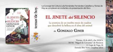 El Jinete del Silencio 465x214 - Gonzalo Giner mantendrá un encuentro con los lectores de Herencia