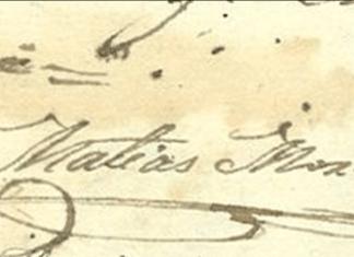 Firma de Matías de Mora López