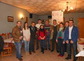 Algunos miembros de la asociación Amigos del Vino de Herencia