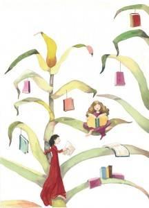 Ilustraci%C3%B3n de M%C3%B3nica Carretero 216x300 - Hoy florecen los libros en Herencia