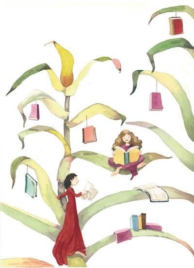 Ilustración de Mónica Carretero - Hoy florecen los libros en Herencia