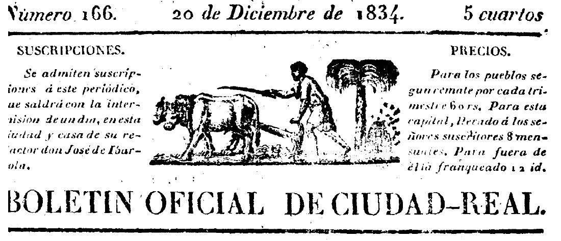 encabezamiento boletin provincial - Ejemplo de contribución especial (s. XIX)