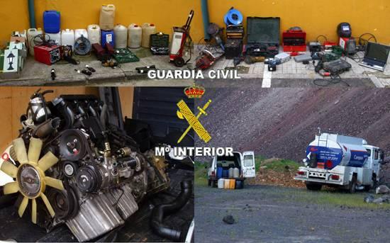 guardiacivil - La Guardia Civil desarticula una organización criminal dedicada a robar gasoil