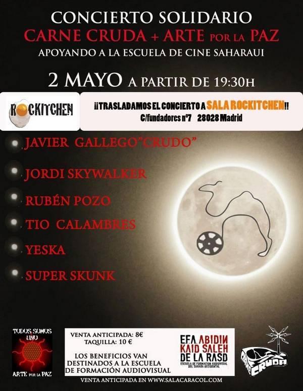 yeska herencia cartel sala caracol rockitchen - Yeska participa en el concierto solidario en apoyo a la escuela de cine saharaui