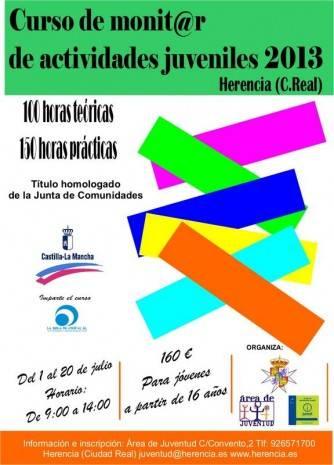 Cartel curso de monitores juveniles Herencia 2013 334x465 - Juventud prepara un curso de monitor de actividades juveniles