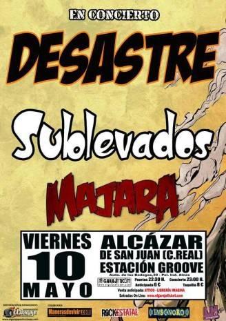 Concierto MAJARA + DESASTRE + SUBLEVADOS 328x465 - Majara vuelve a los escenarios con dos directos