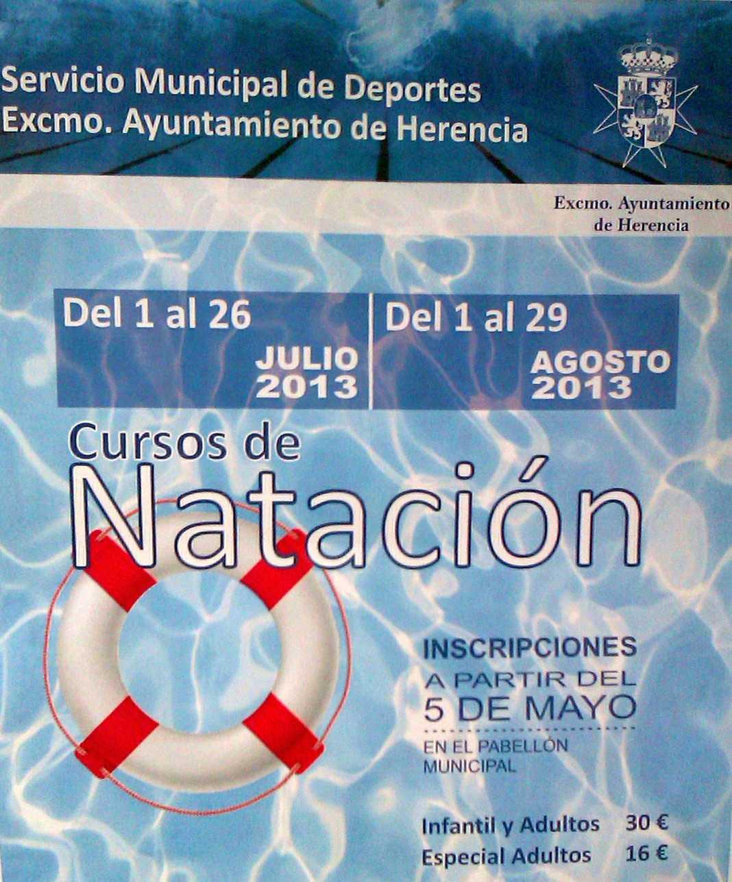 Cursillos de natación 1068x1287 - Herencia abre el 5 de mayo el plazo de solicitud para los cursillos de natación