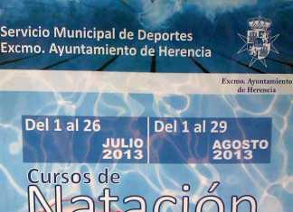 Herencia_cartel Cursillos de natación 2013