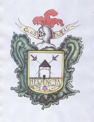 Escudo del club de Esgrima Dumas de Herencia