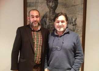 Jesús Fernández, alclade de Herencia junto a José Luis García-Peñuela, enólogo de la cooperativa San José de Herencia