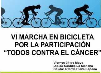 Cartel VI Marcha en bicicleta por la participación y contra el Cáncer en Herencia