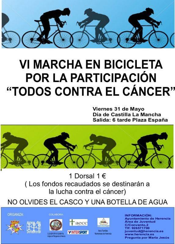 Herencia Marcha en Bicicleta 2013 - VI Marcha en bicicleta por la Participación y contra el cáncer