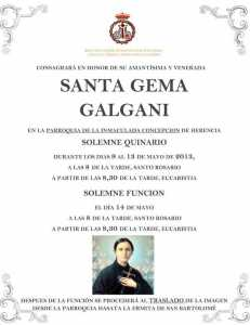 Quinario Santa Gema 2013