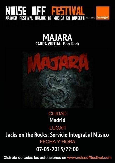 Directo online de Majara, a través de JACKS ON THE ROCKS