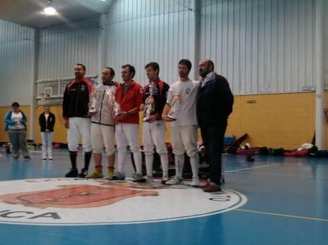 Podium campeonato regional de esgrima celebrado en Cuenca