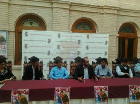 Presentación corrida de toros de Herencia junio 2013