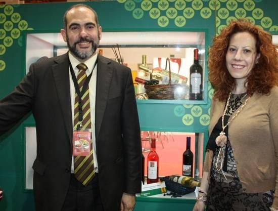 herencia en stand globalcaja coop. san jose gg - Jesús Fernández estuvo en Fenavin preparando unas jornadas de internacionalización
