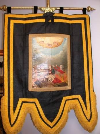 Antiguo estandarte de ánimas de Herencia 348x465 - Symbolon tendrá una importante aportación de Herencia