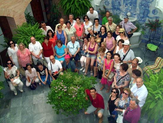 Miembros de los club de lectura de Herencia en su viaje a Córdoba