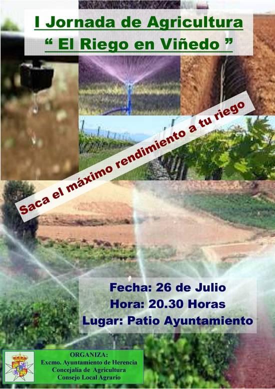 Cartel Jornada de Riego en la viña - Jornada sobre el riego en el viñedo