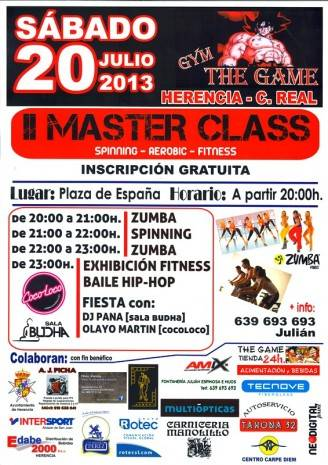 Cartel Segunda Master Class The Game page 0 328x465 - Segunda Master Class del gimnasio The Game