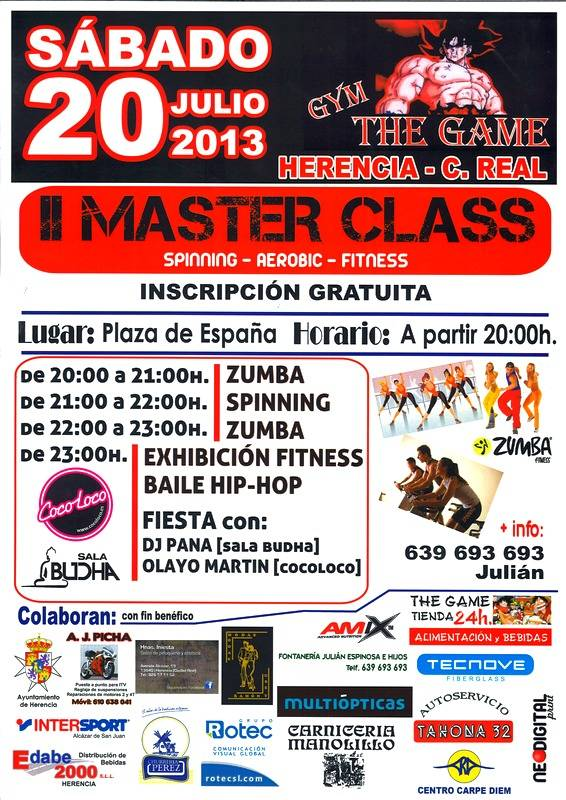 Cartel Segunda Master Class The Game page 0 - Segunda Master Class del gimnasio The Game