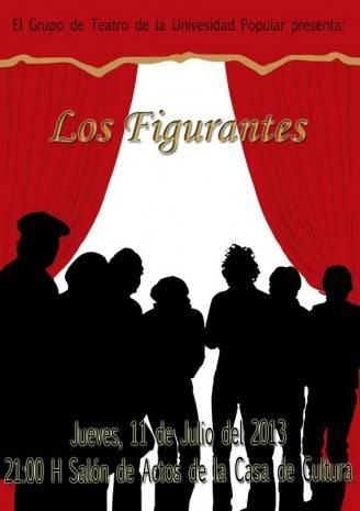 """Cartel Teatro U.P. 328x465 - Representación de """"Los figurantes"""" a cargo del grupo de teatro de la UP"""