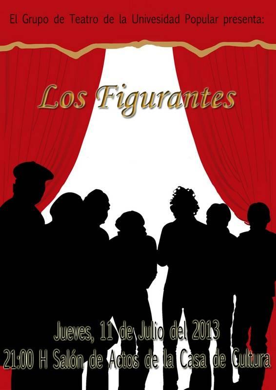 """Cartel Teatro U.P. - Representación de """"Los figurantes"""" a cargo del grupo de teatro de la UP"""