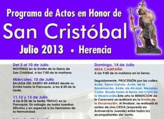 Cartel de San Cristóbal Herencia
