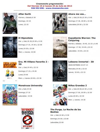 Cartelera de Cinemancha del viernes 19 de julio al jueves 25 de julio 351x465 - Programación Cinemancha del 19 de julio al 25 de julio