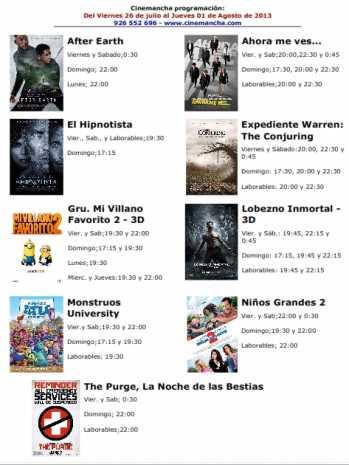Cartelera de multicines cinemancha del 26 07 al 01 08 349x465 - Programación Cinemancha del 26 de julio al 1 de agosto