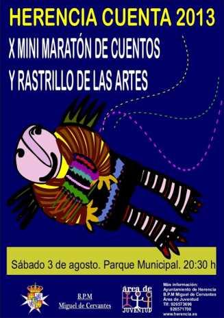 HERENCIa MARATN Cuentos g 327x465 - El X mini maratón de cuentos y rastrillo de las artes tendrá lugar el 3 de agosto