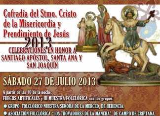 Cartel festividad Santiago, san Joaquín y Santa Ana