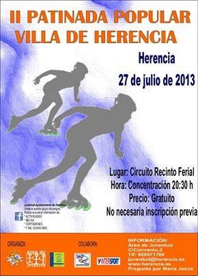 II patinada popular de Herencia - Juventud organiza la II patinada popular de Herencia