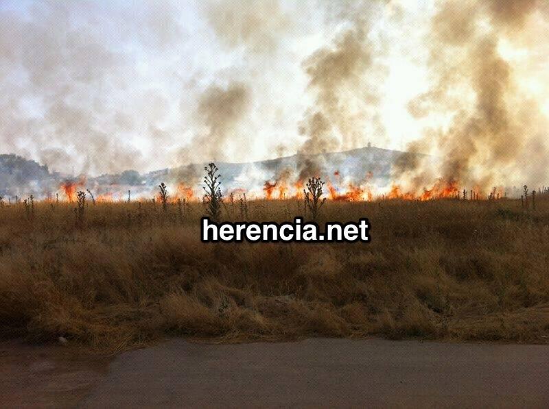incendio en herencia   ciudad real   llamas - Sofocado un incendio en la zona la granja