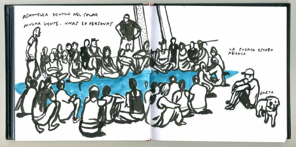 Dibujo de una asamblea tomado de la web lavapies.tomalosbarrios.net