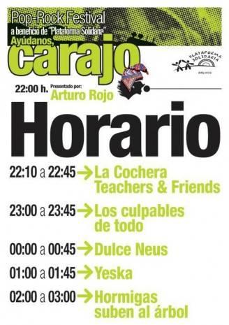 CarajoRock 328x465 - Yeska tocará en el CarajoRock en beneficio de Plataforma Solidaria