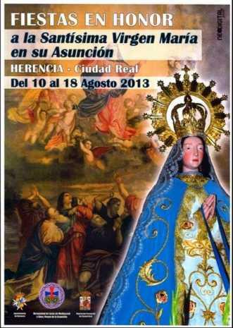Cartel fiestas de La Labradora Herencia 2013 331x465 - Fiestas en honor a la Virgen de la Asunción en el barrio de La Labradora