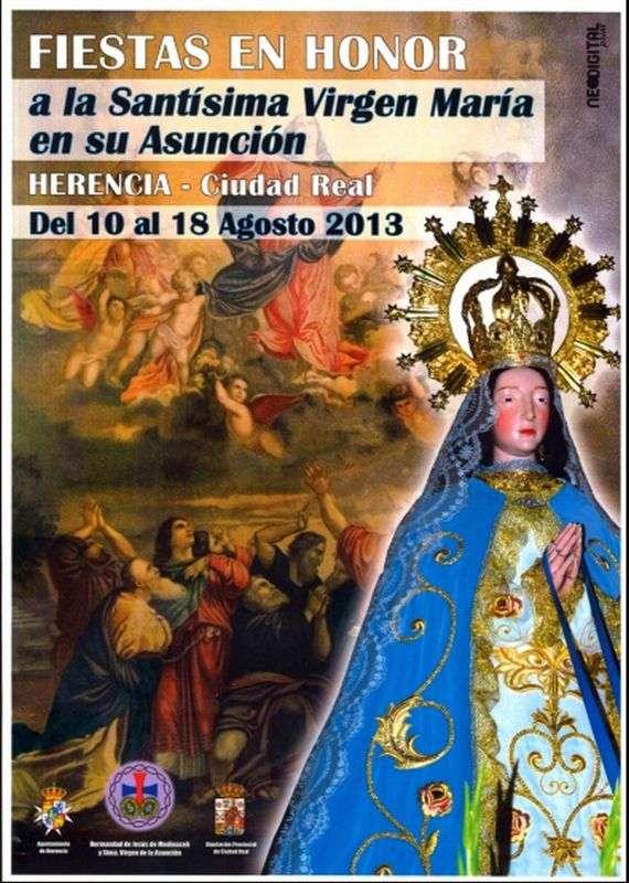 Cartel fiestas de La Labradora Herencia 2013 - Fiestas en honor a la Virgen de la Asunción en el barrio de La Labradora