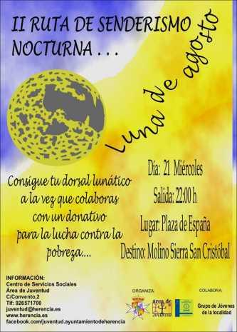 "Ruta de senderismo nocturna 333x465 - Juventud organiza la II Ruta de Senderismo Nocturna ""Luna de Agosto"""