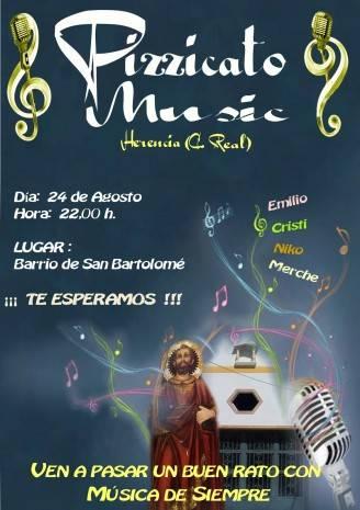 cartel concierto san bartolome Pizzicato Music Herencia 2013 328x465 - Pizzicato Music dará un concierto en las fiestas de San Bartolomé