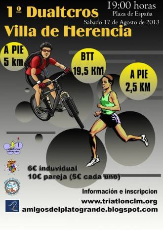 cartel dualtcros Herencia 330x465 - Preparado el Primer Duatcross Villa de Herencia