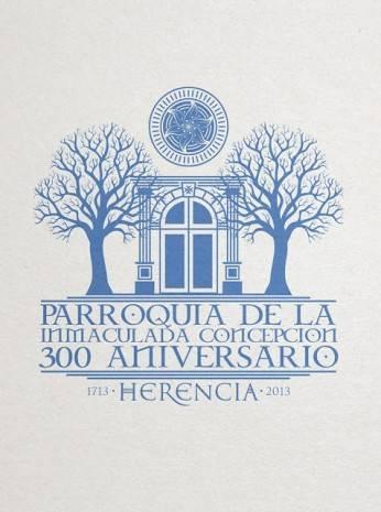 300 Aniversario del Templo Parroquial de Herencia 346x465 - Cartel e imagen conmemorativa del Año Jubilar y la celebración del 300 aniversario parroquial de Herencia