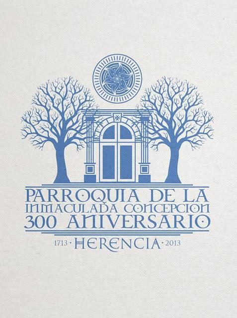 300 Aniversario del Templo Parroquial de Herencia - Cartel e imagen conmemorativa del Año Jubilar y la celebración del 300 aniversario parroquial de Herencia