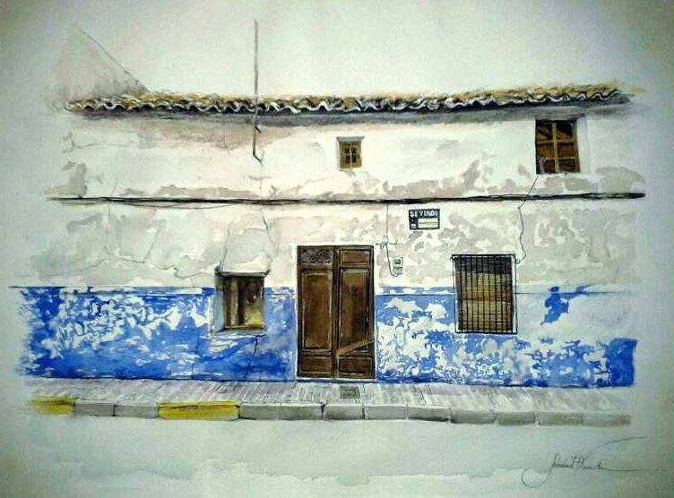 Azulete de Soledad Franch, premio local del Certamen de Pintura Jesús Madero