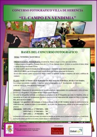 CARTEL CONCURSO FOTOGRAFIA EL CAMPO EN VENDIMIA en HERENCIA 328x465 - Convocado un concurso fotográfico sobre la vendimia